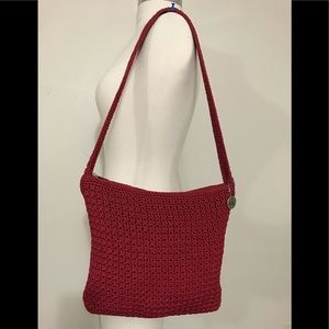 The Sak Red Crocheted Handbag Purse